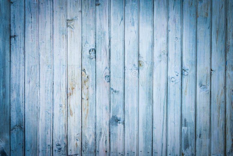 浅兰的老木板条背景 免版税库存照片