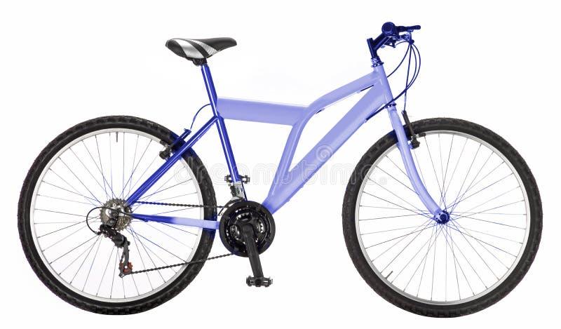 浅兰的自行车 图库摄影