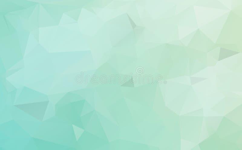 浅兰,绿色传染媒介多角形样式 与梯度的五颜六色的抽象例证 典雅的样式可以使用作为部分 皇族释放例证