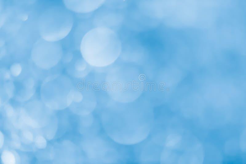 浅兰bokeh的背景 图库摄影