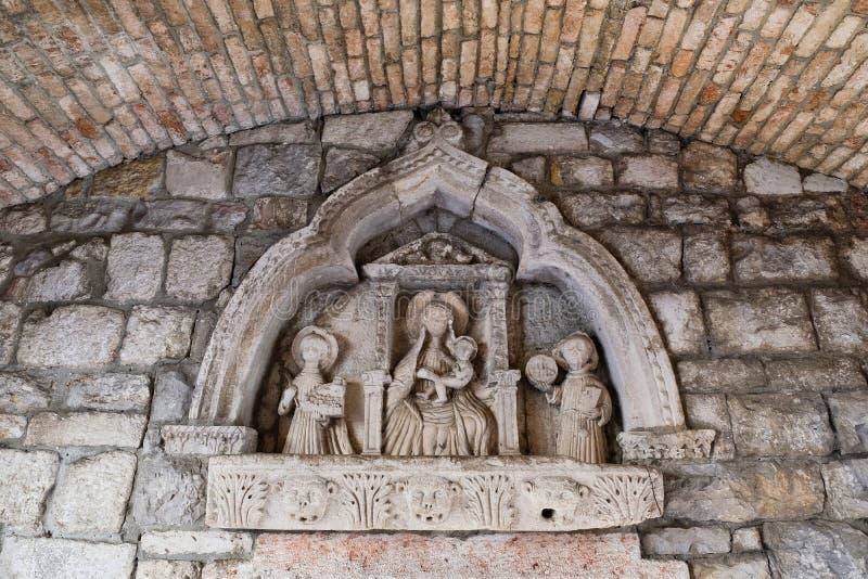 浅浮雕宗教象,分裂,克罗地亚 图库摄影