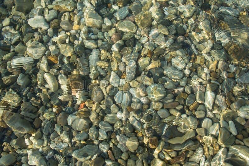 浅海水顶视图 免版税库存照片