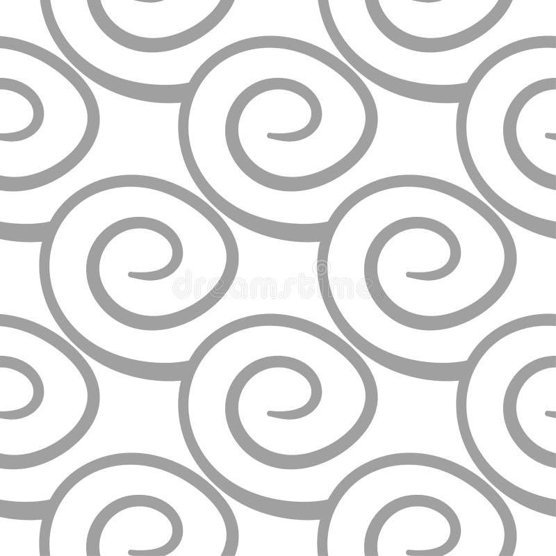 浅灰色的几何装饰品 无缝的模式 库存例证