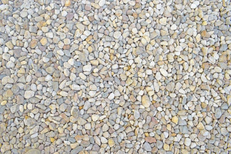 浅灰色的小小卵石 库存照片