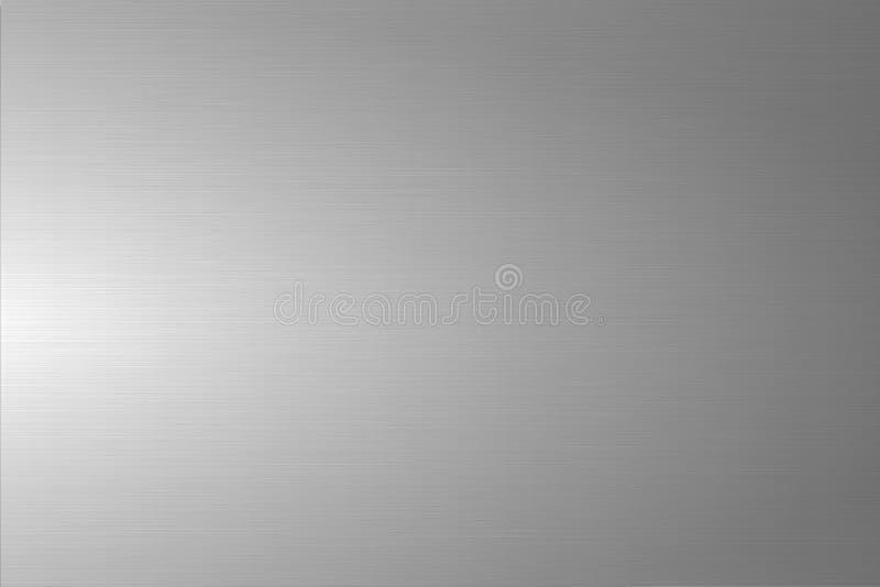 浅灰色的掠过的金属纹理 发光的优美的金属背景 库存例证