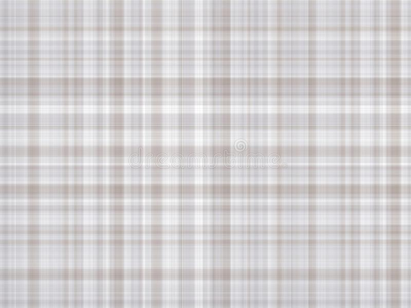 浅灰色的格子花呢披肩织品,几何例证 库存例证