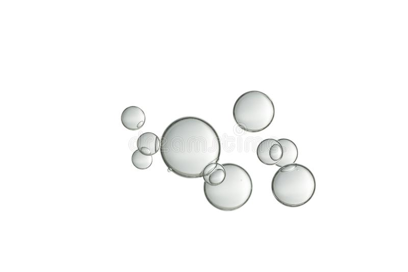 浅灰色的流动的泡影 库存照片