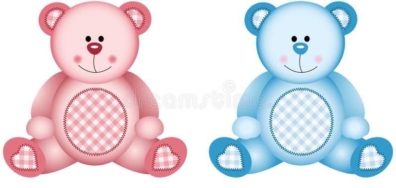 浅粉红色和浅蓝色 库存例证