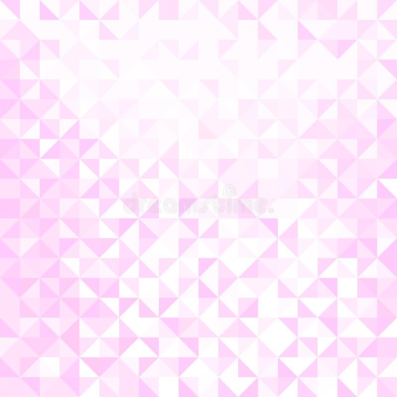 浅粉红色和白色三角形状样式 r 库存例证