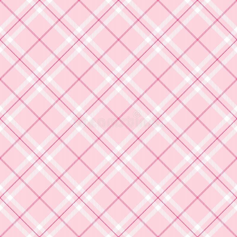 浅粉红色的格子花呢披肩 皇族释放例证