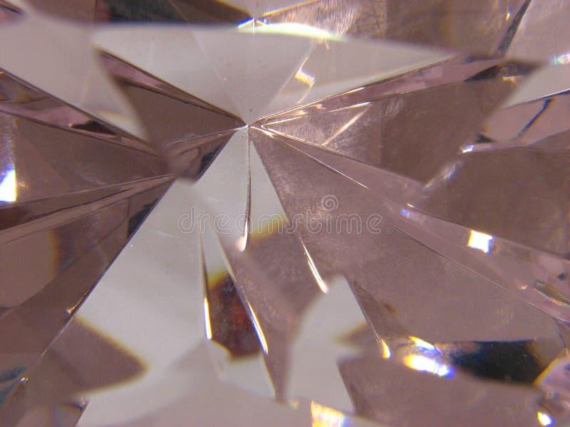 浅粉红色的水晶小平面  免版税库存图片