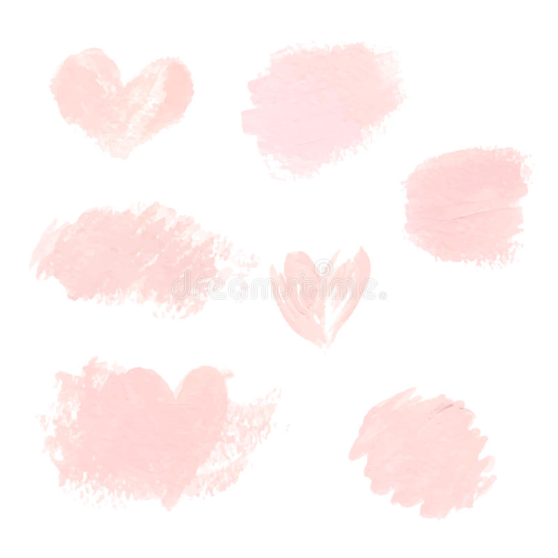 浅粉红色的淡色丙烯酸酯的刷子冲程,商标的,装饰,婚姻的邀请精美纹理 向量例证