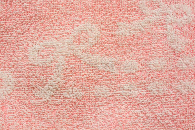 浅粉红色的颜色浴棉花毛巾纹理 免版税库存图片