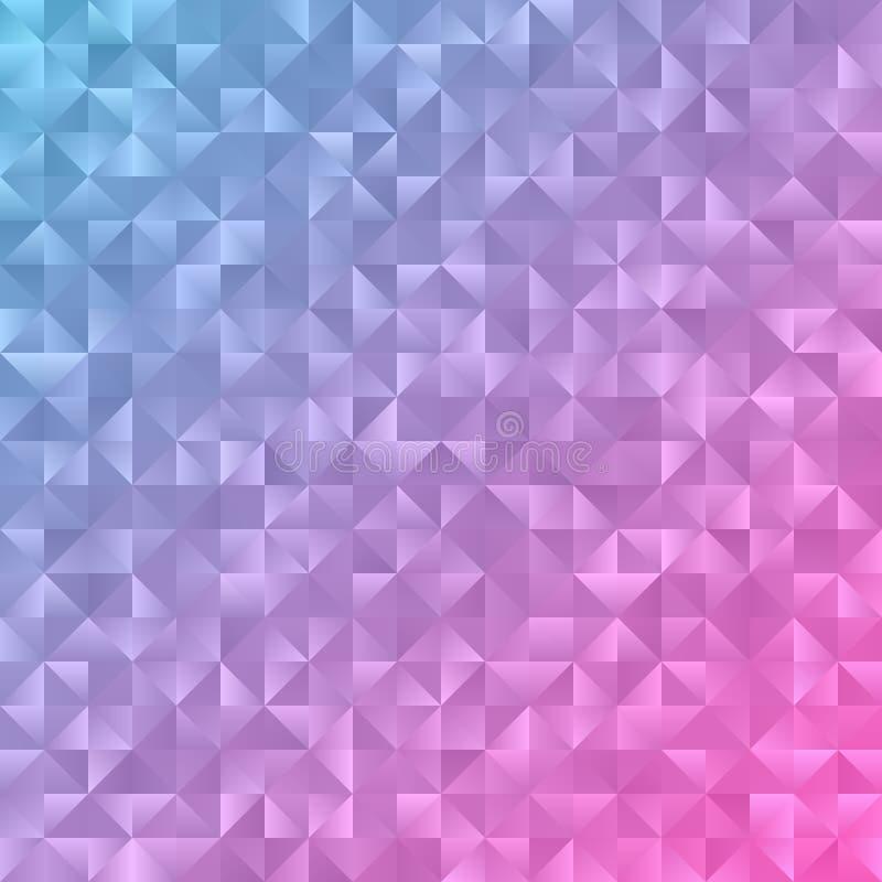 浅粉红色,蓝色多角形摘要背景 抽象五颜六色 皇族释放例证