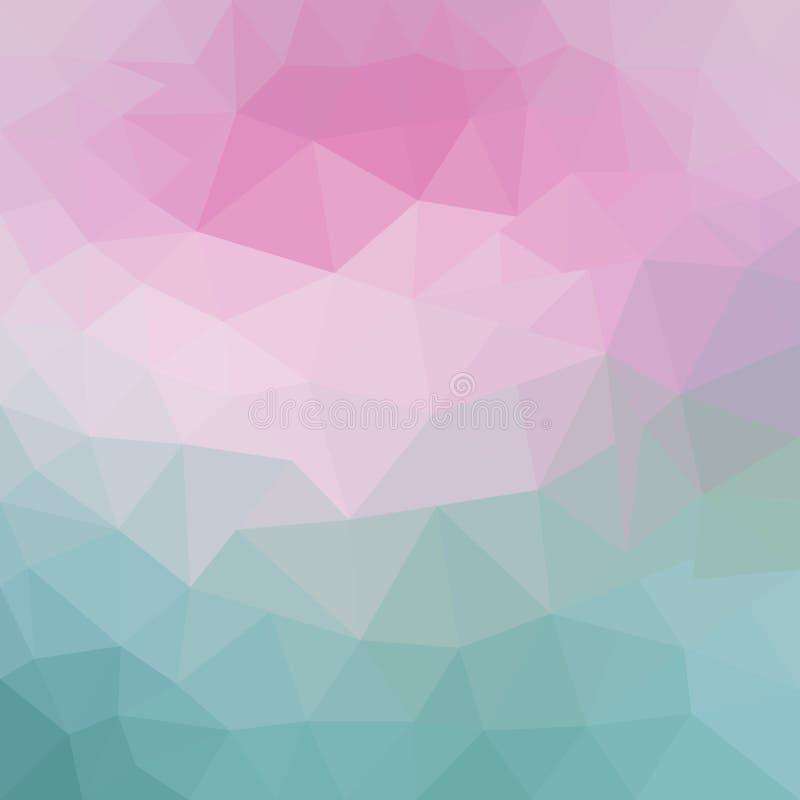 浅粉红色,蓝色抽象马赛克背景 与梯度的现代几何抽象例证 新的纹理为 皇族释放例证