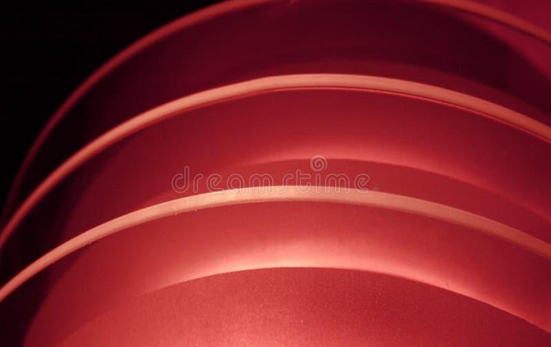 浅红色的曲度 免版税库存图片