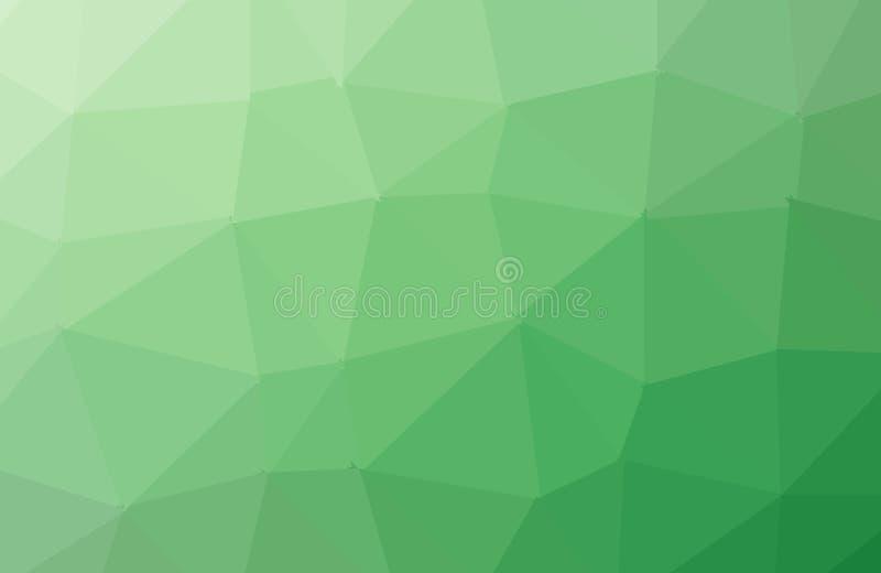 浅绿色的光亮的三角背景 与多角形形状的一个样品 织地不很细样式可以为背景使用 向量例证