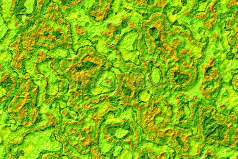 浅绿色的难看的东西和金子纹理圣诞节抽象背景 库存例证