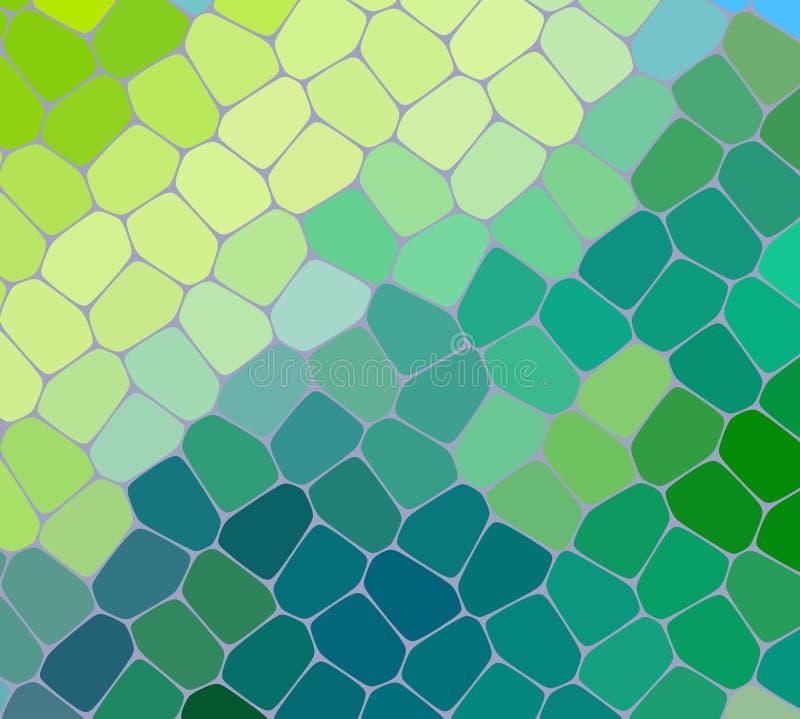 浅绿色,黄色传染媒介模糊的长方形背景 在方形的样式的几何背景与梯度 向量例证