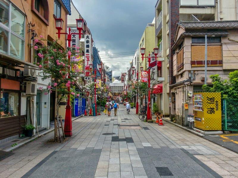 浅草街道看法在夏季的东京 库存照片