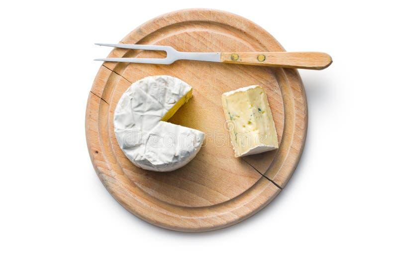 浅蓝色董事会干酪的剪切dof 库存照片