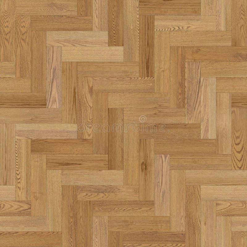 浅褐色无缝的木木条地板纹理的人字形 向量例证