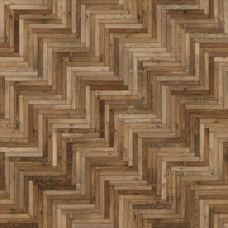 浅褐色无缝的木木条地板纹理的人字形 库存照片