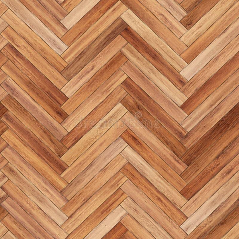 浅褐色无缝的木木条地板纹理的人字形 免版税库存照片