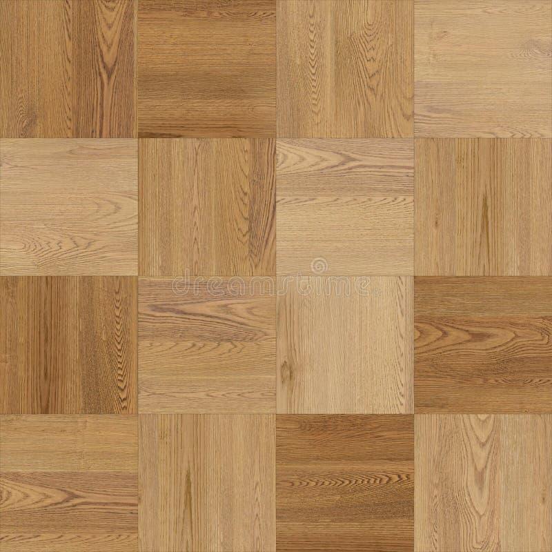 浅褐色无缝的木木条地板纹理的棋 向量例证
