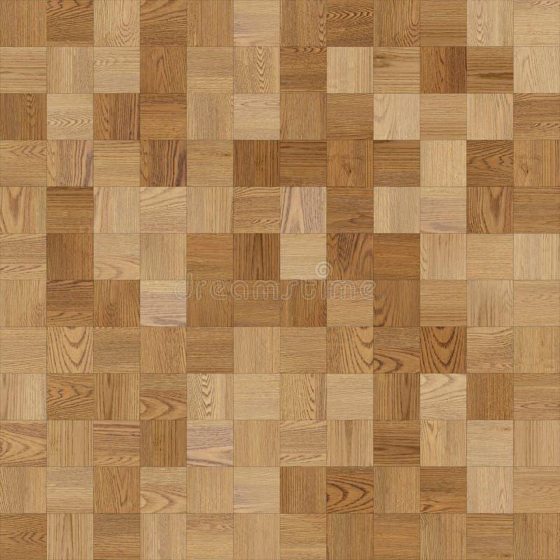 浅褐色无缝的木木条地板纹理的棋 库存例证