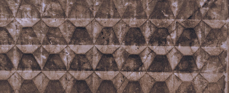 浅褐色的老具体篱芭纹理有磨损和镇压的 o 免版税库存图片