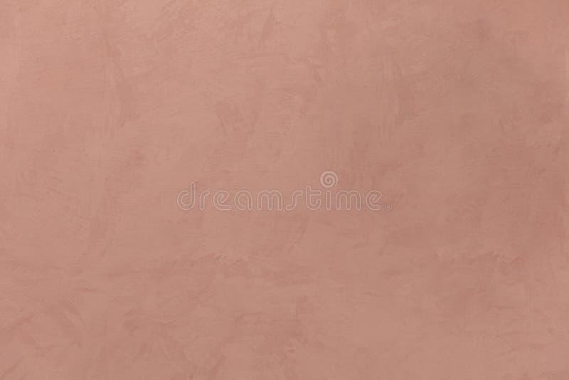浅褐色的颜色,灰泥被绘的墙壁纹理难看的东西背景 免版税图库摄影