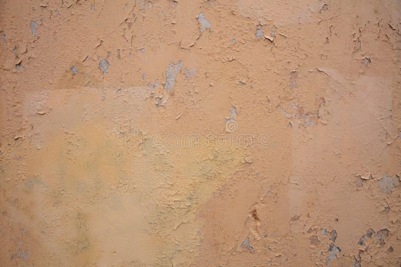 浅褐色的颜色,被绘的墙壁纹理难看的东西背景 库存照片
