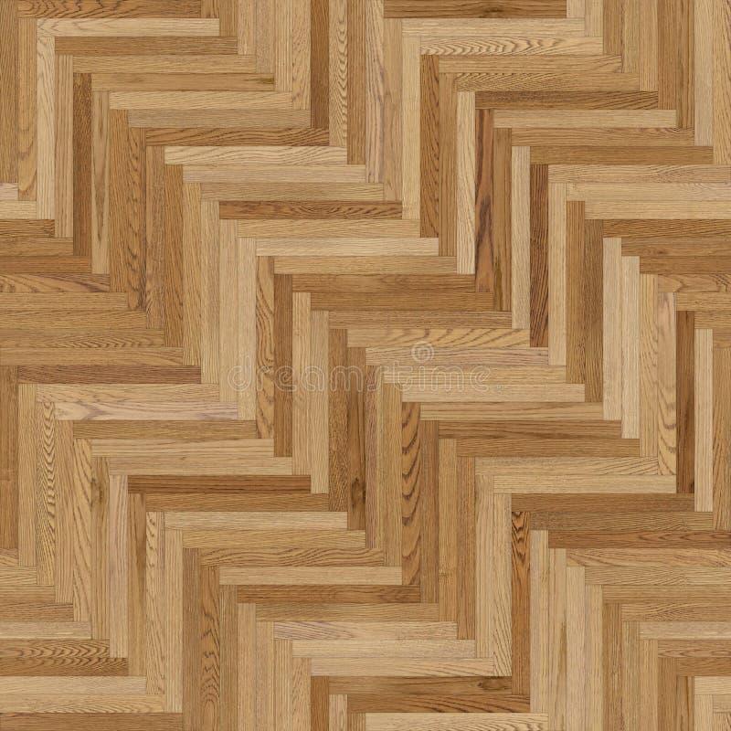 浅褐色稀薄的无缝的木木条地板纹理的人字形 向量例证