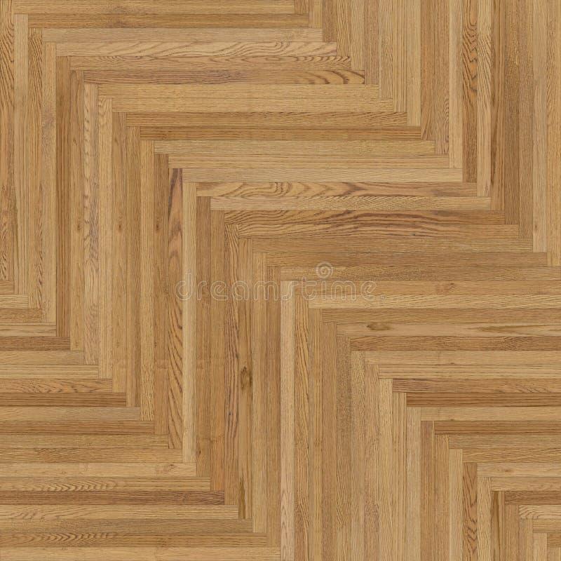 浅褐色稀薄的无缝的木木条地板纹理的人字形 皇族释放例证