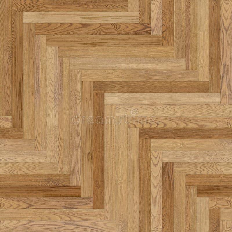 浅褐色稀薄的无缝的木木条地板纹理的人字形 库存例证