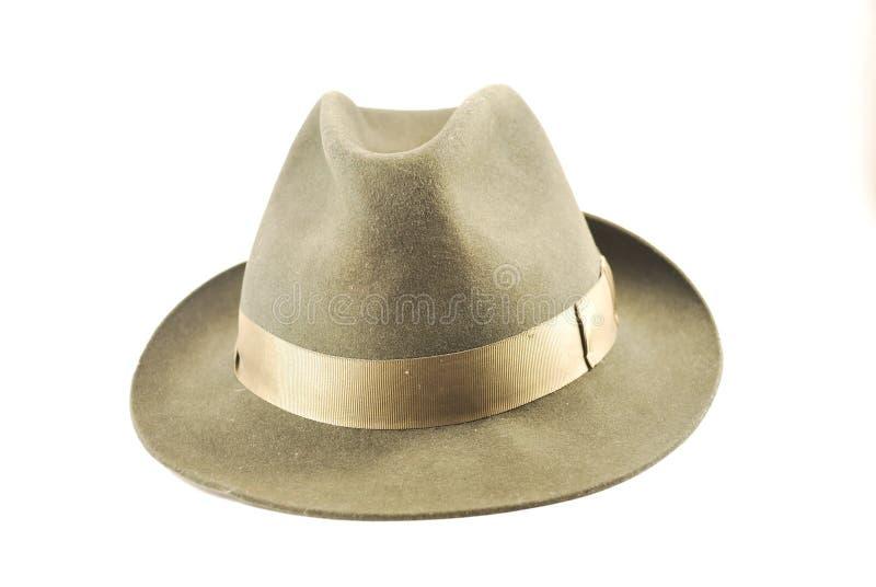 浅顶软呢帽帽子 免版税图库摄影