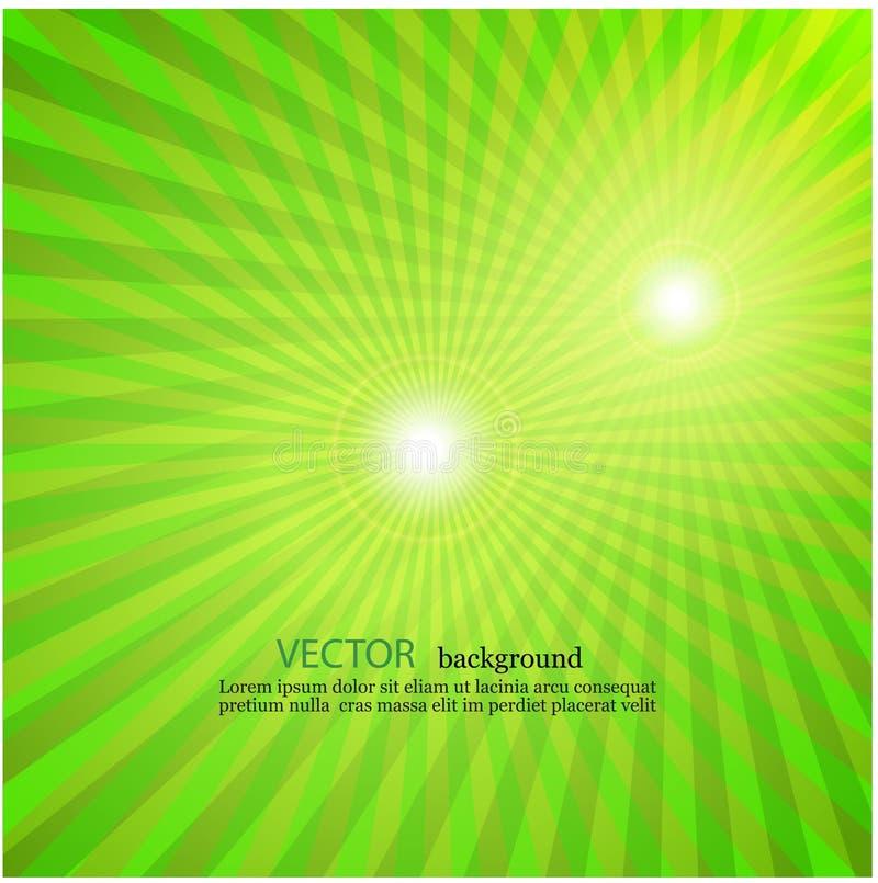 浅绿色的光芒星爆炸电视葡萄酒背景 向量例证