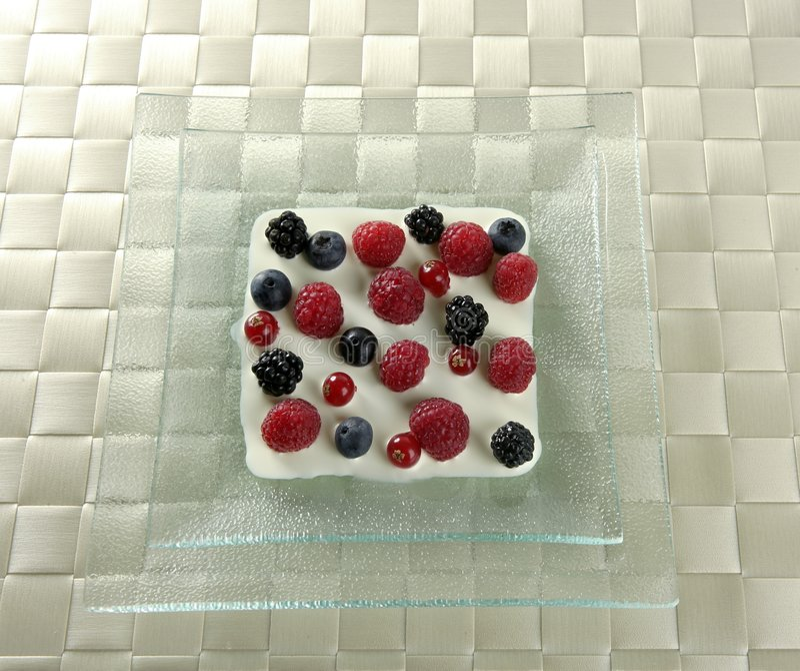 浆果奶油混合变化 库存照片