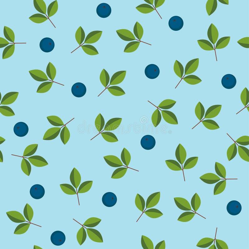 浆果无缝的墙纸 向量例证