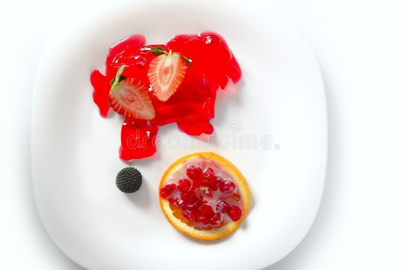 浆果果冻桔子草莓 免版税库存图片