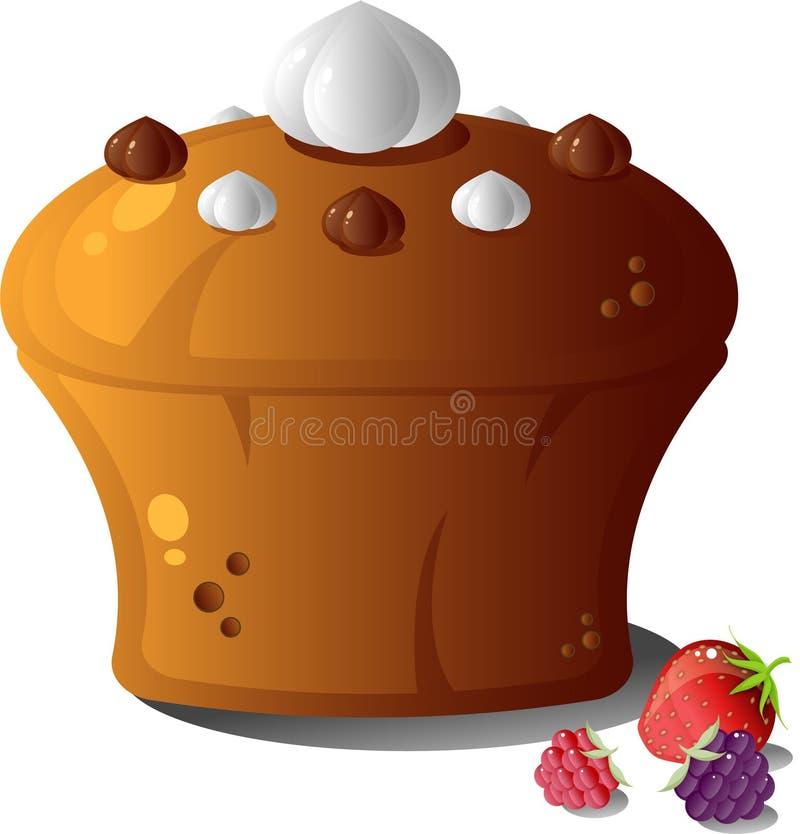 浆果蛋糕 库存例证