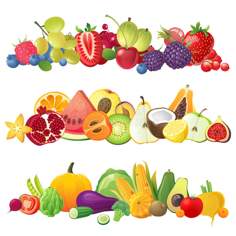 浆果边界果菜类 皇族释放例证