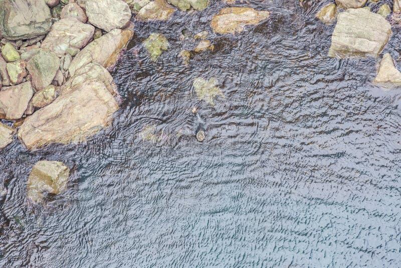 浇灌从Mizen头pedastrian桥梁的表面的垂直的看法 库存图片