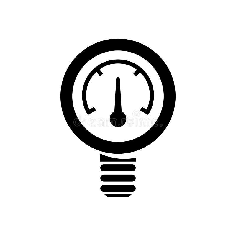 测压器压力剪影 向量例证