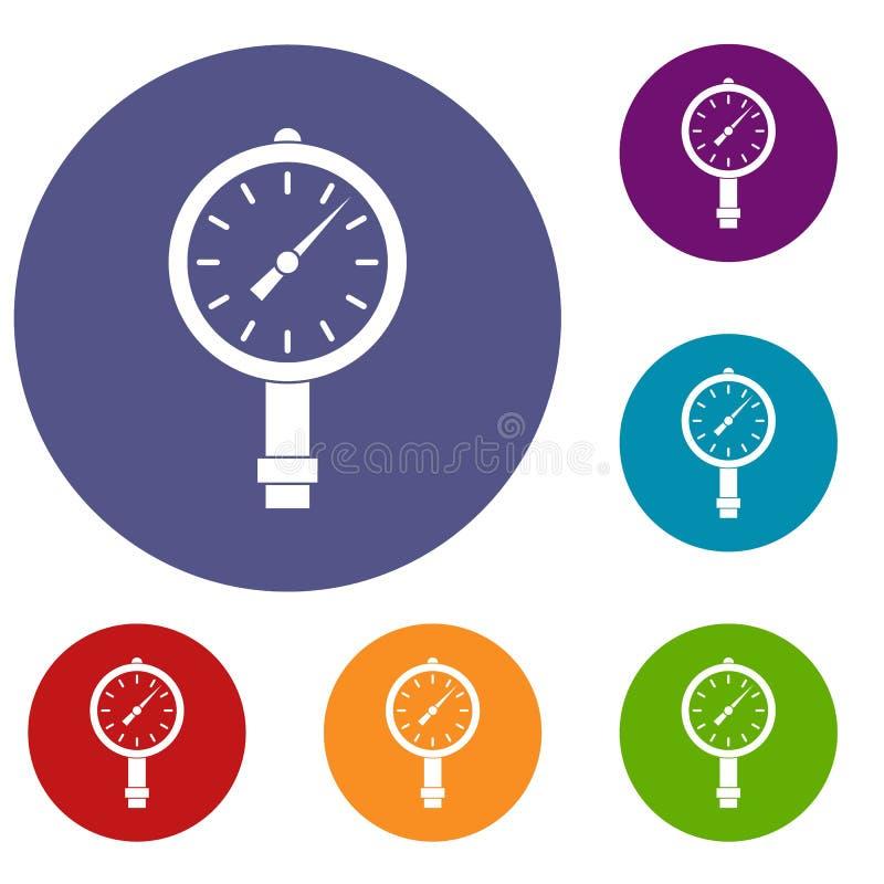 测压器或被设置的压力表象 库存例证