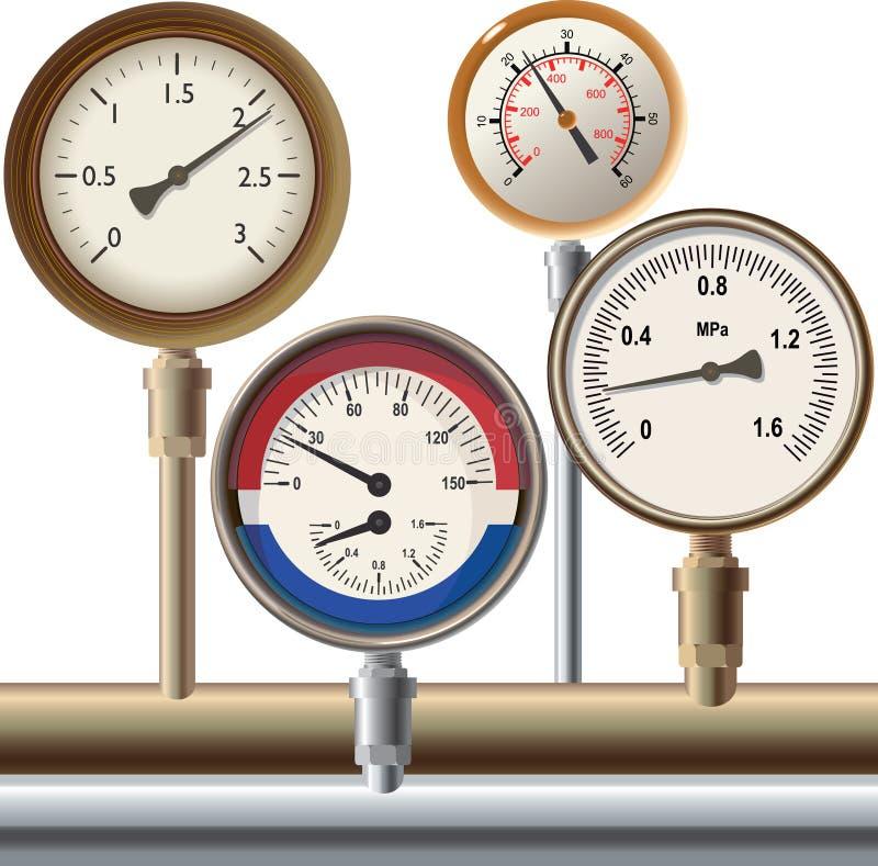 测压器 库存例证