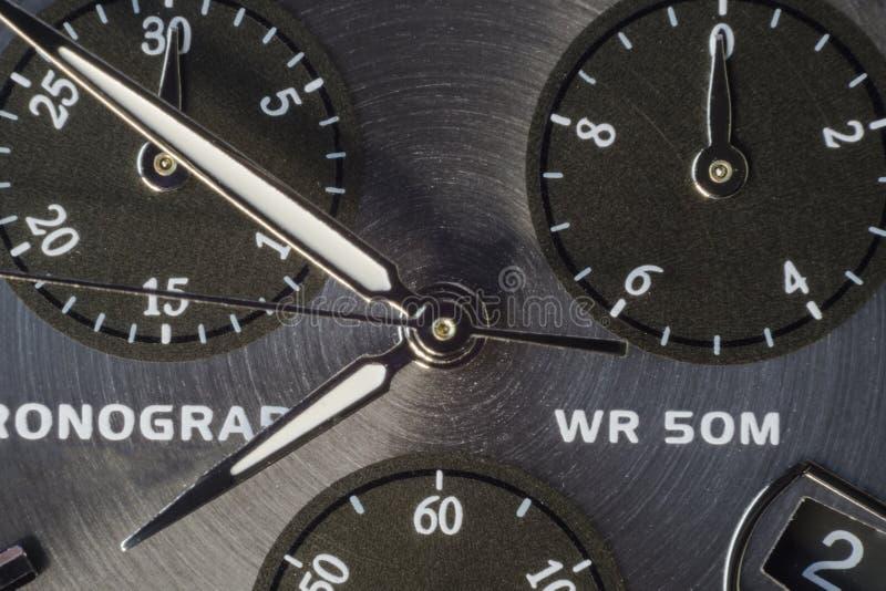 测时器接近的makro射击 免版税库存图片