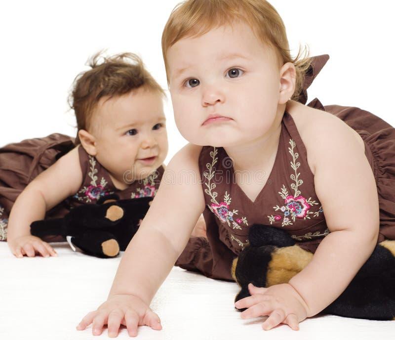测试使用的婴孩 免版税库存照片