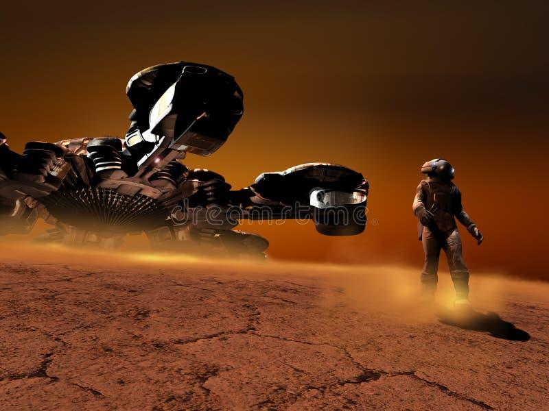 测试的更行星 向量例证